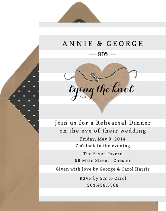 tying the knot invitations in brown greenvelope com