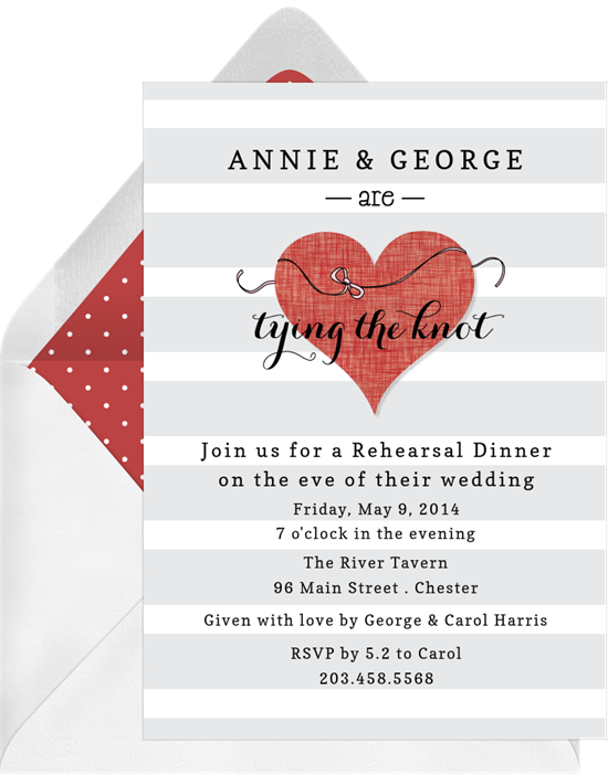 tying the knot invitations greenvelope com