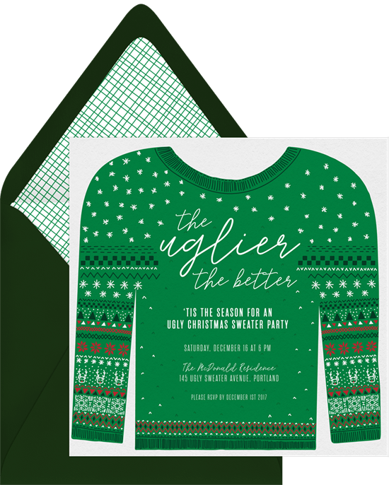 Ugly Sweater Invitations Greenvelope Com