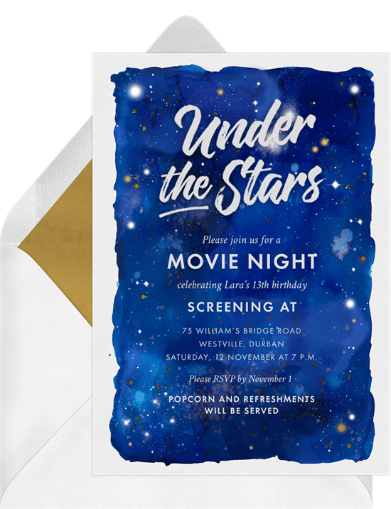 under the stars invitations greenvelope com