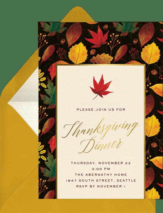 vibrant autumn invitations greenvelope com