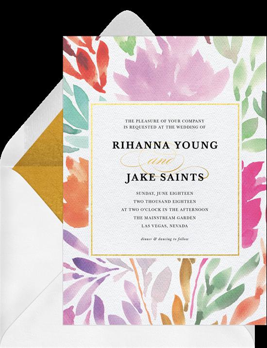 watercolor flowers invitations greenvelope com