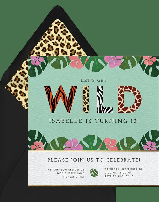 wild jungle invitations greenvelope com