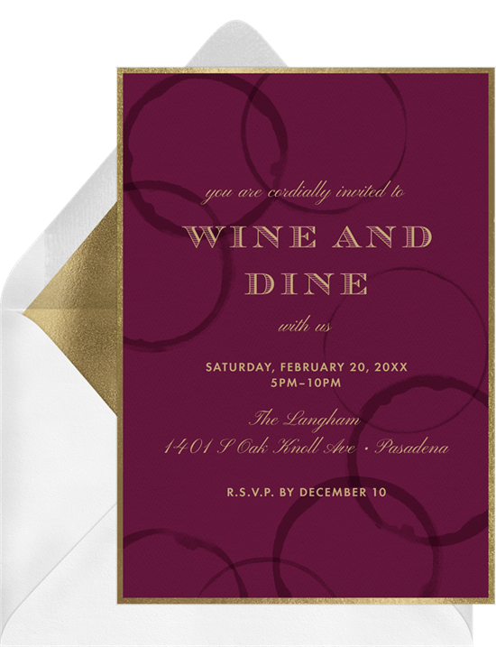 wine rings invitations greenvelope com