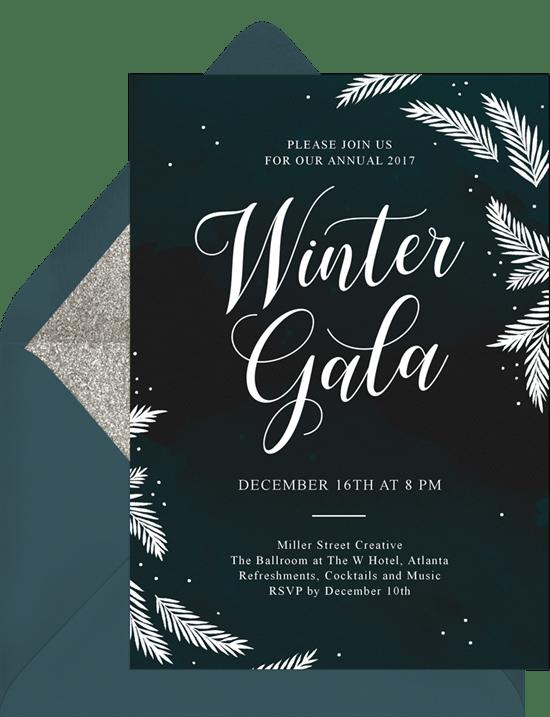 winter gala invitations greenvelope com