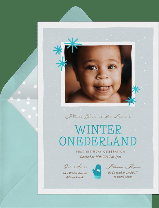 Winter Onederland Invitations Greenvelope Com