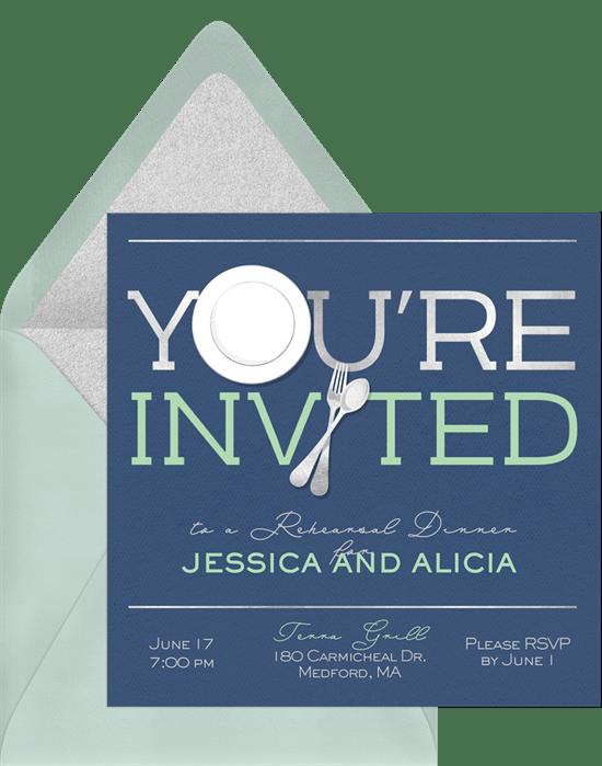 You\'re Invited Invitations in Blue   Greenvelope.com