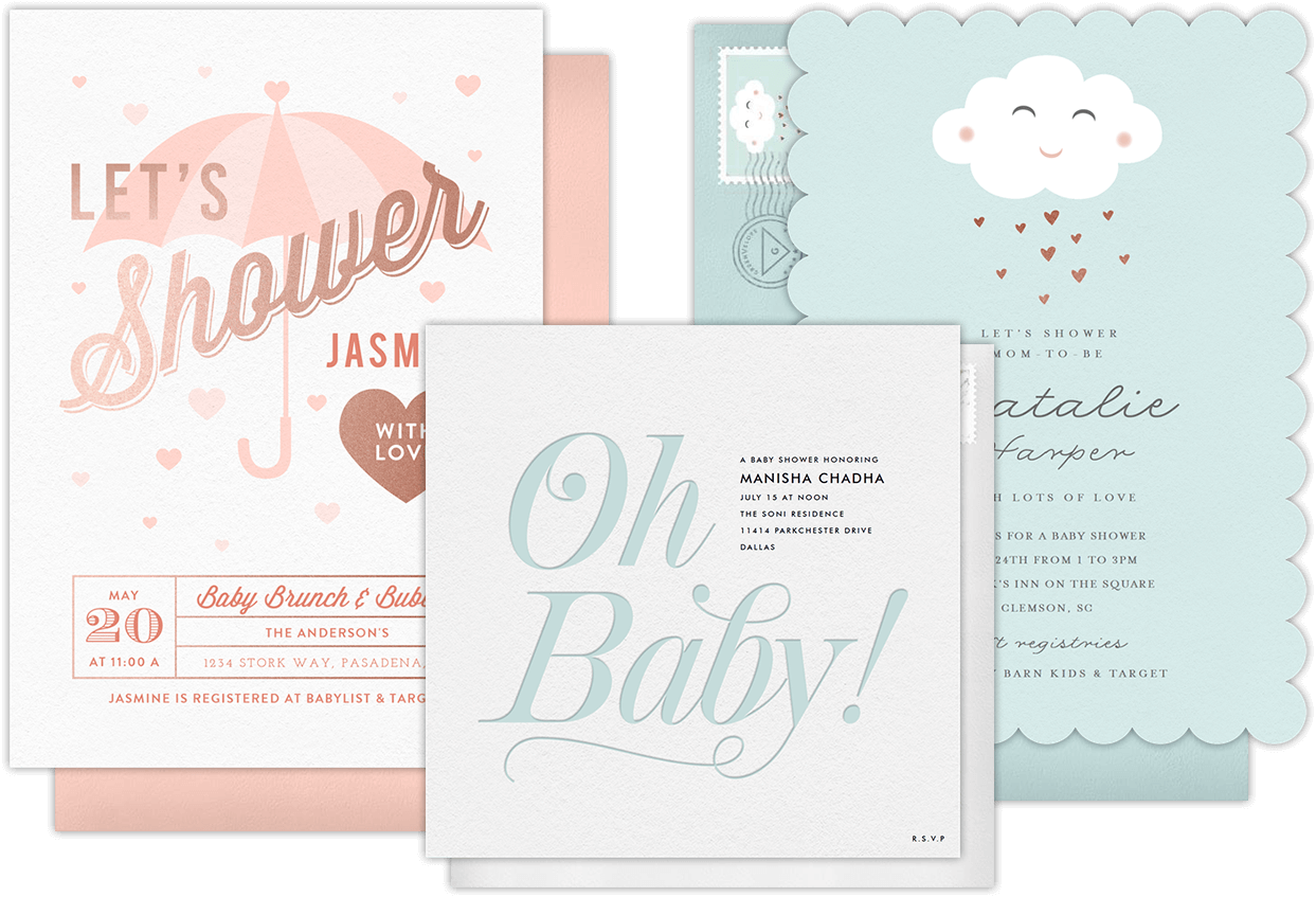 Email online baby shower invitations that wow greenvelope baby shower invitations filmwisefo Image collections