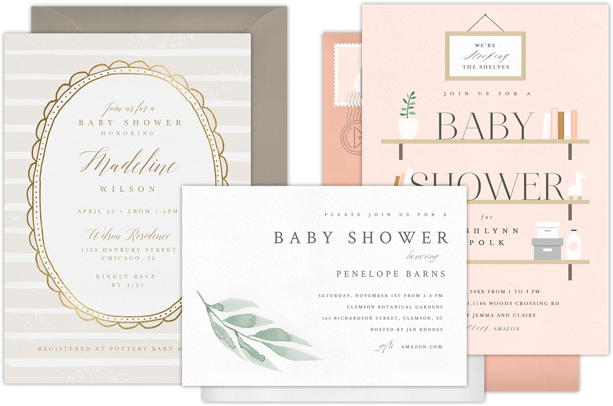 Email Online Baby Shower Invitations that WOW – Baby Shower Agenda Template