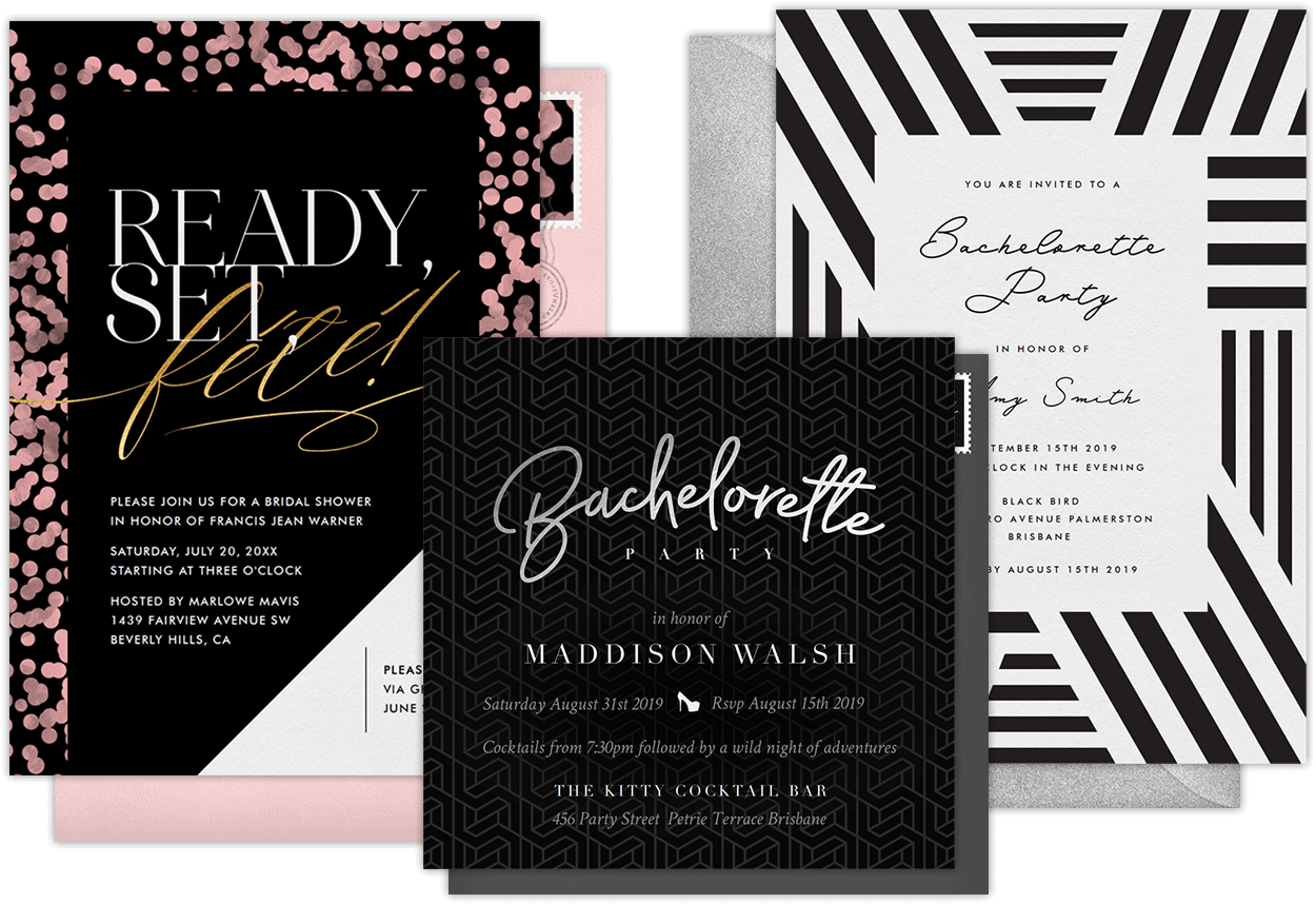 Email Online Bachelorette Party Invitations that WOW – Invitation Bachelorette Party