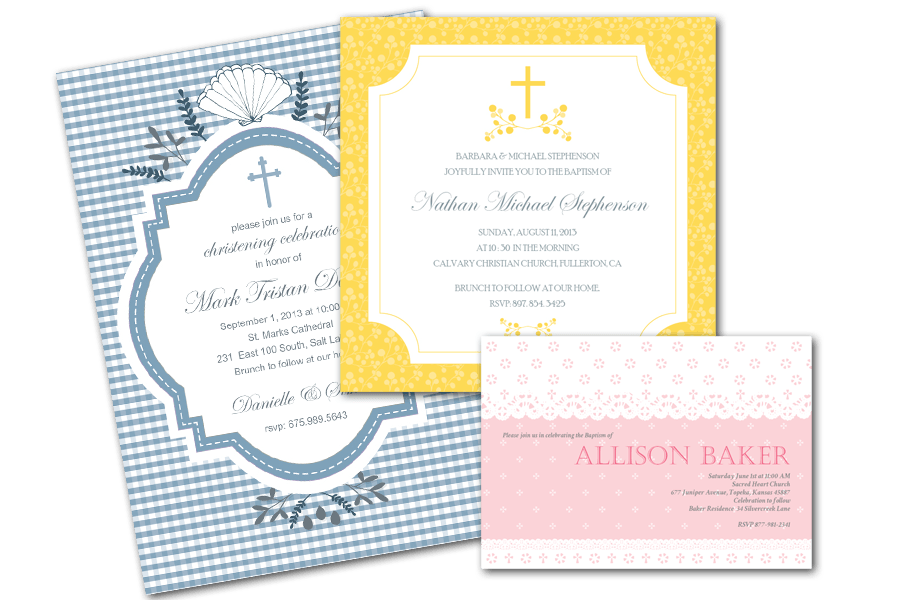Baptism/Communion Invitations