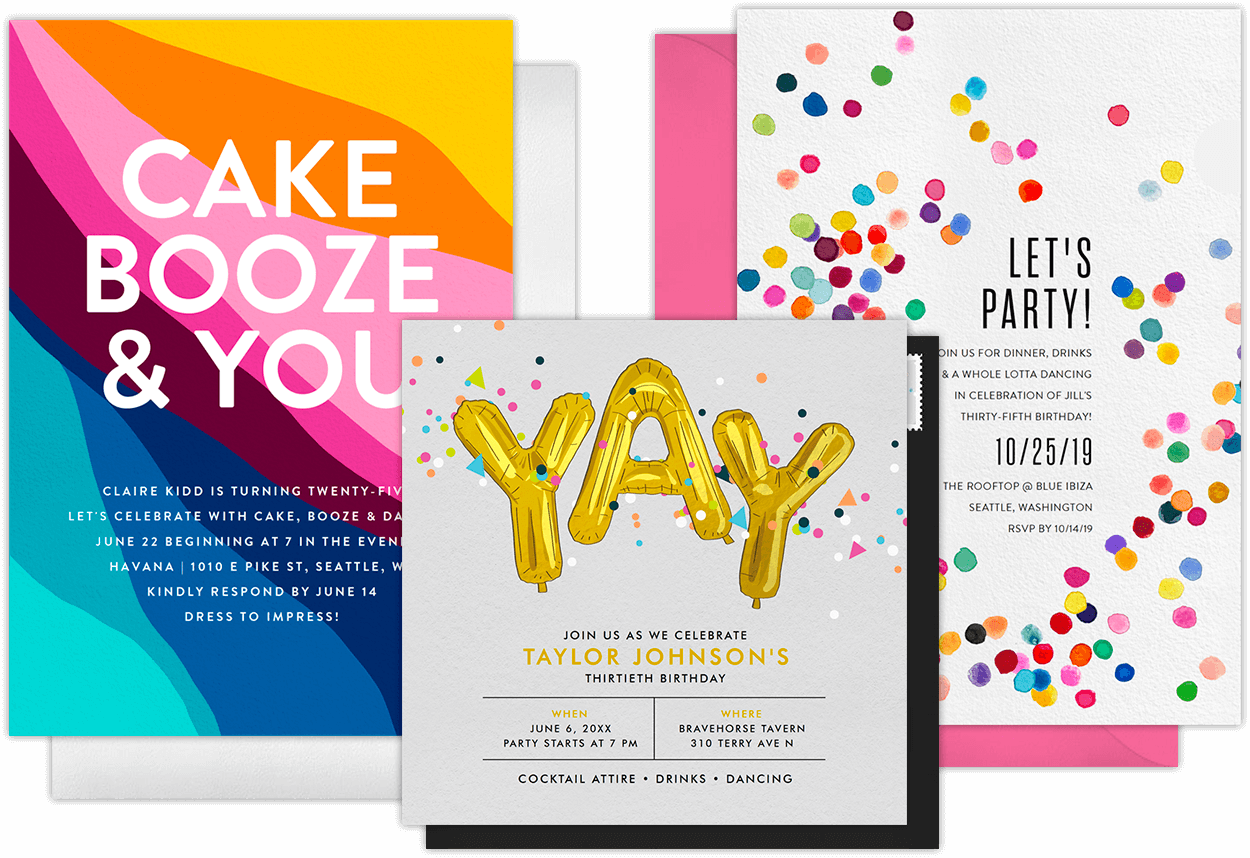 Email Online Birthday Party Invitations That WOW Greenvelopecom - Digital birthday invitation template