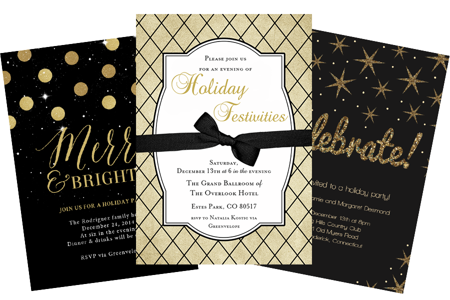 Email Online Business Holiday Party Invitations that WOW – Business Holiday Party Invitations