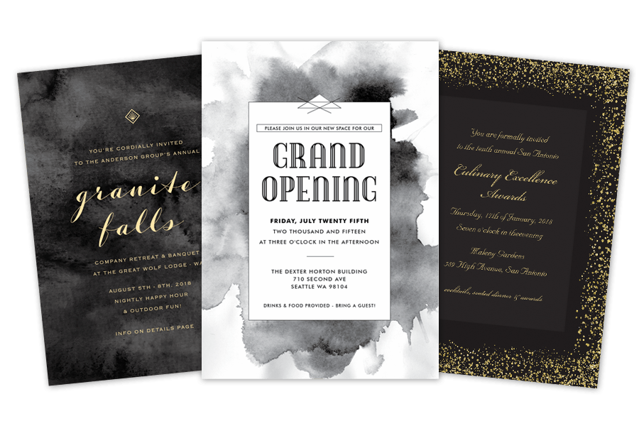 Business Invitations  Business Event Invitation