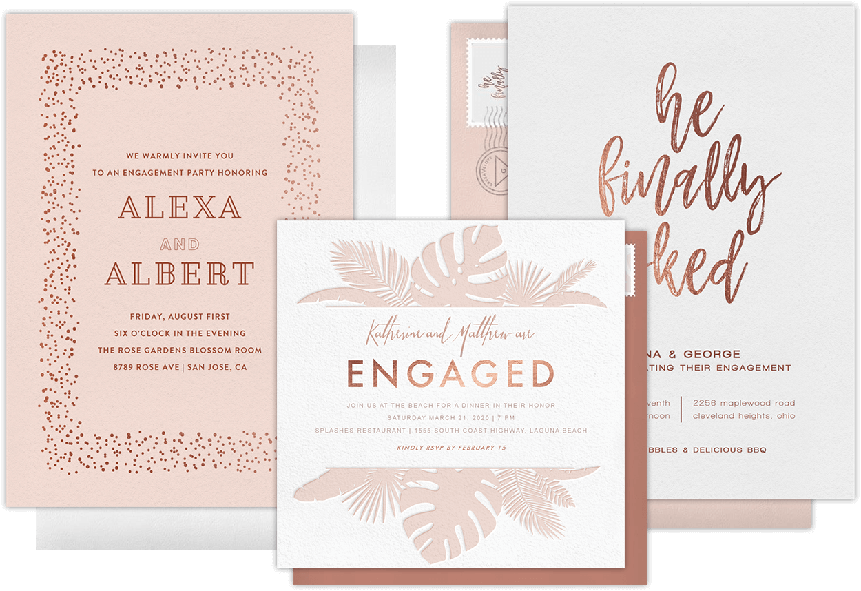 Digital Engagement Party Invitations For Modern Couples  Engagement Invitations Online Templates