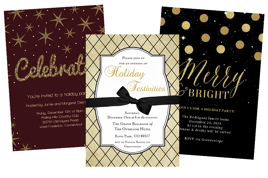 Email Online Holiday Invitations that WOW – Elegant Holiday Party Invitations