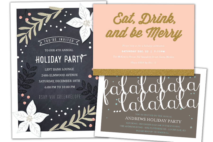 Email Online Holiday Invitations that WOW! | Greenvelope.com