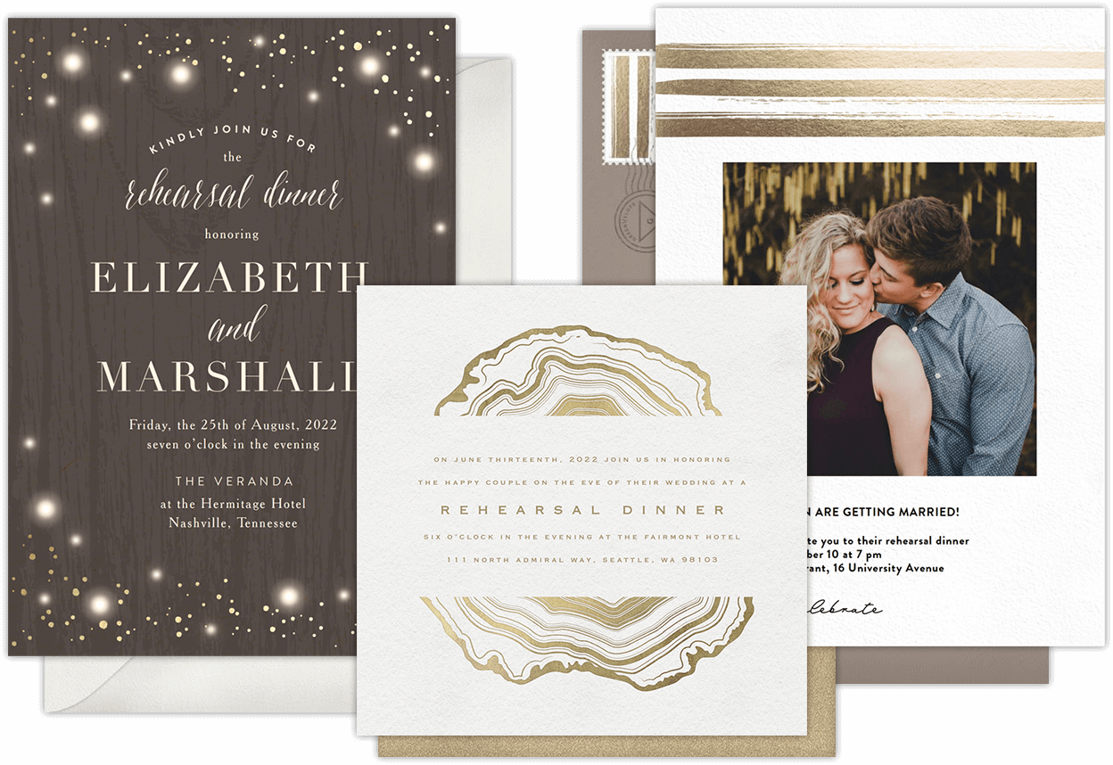 Email online rehearsal dinner invitations that wow greenvelope digital rehearsal dinner invitations for modern hosts stopboris Choice Image