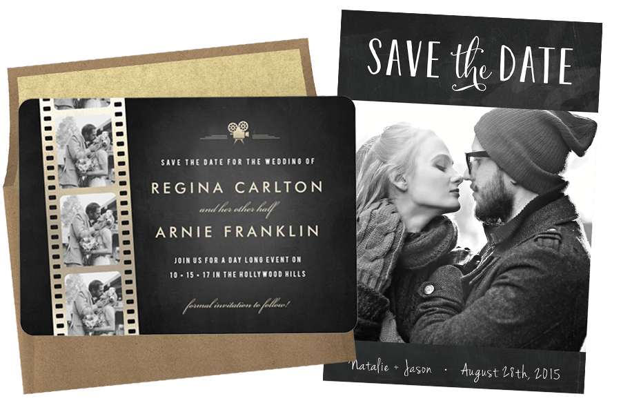 Email online wedding save the dates that wow for Free online wedding save the date templates