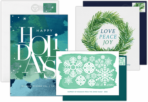 Email online business holiday cards that wow greenvelope business holiday cards reheart Choice Image