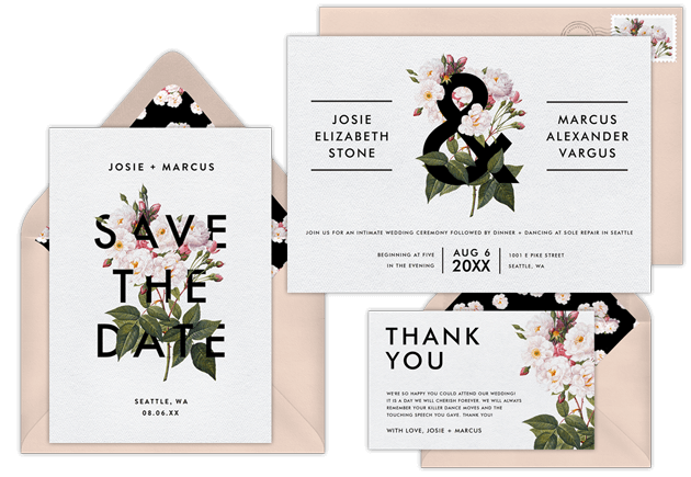 electronic save the date templates - email online wedding invitations that wow